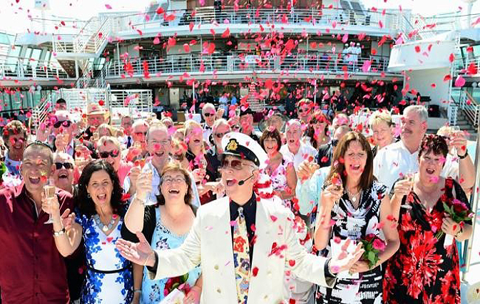 Princess Cruises vow renewal world record Gavin McLeod