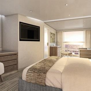 Silversea Origin cruise ship deluxe veranda