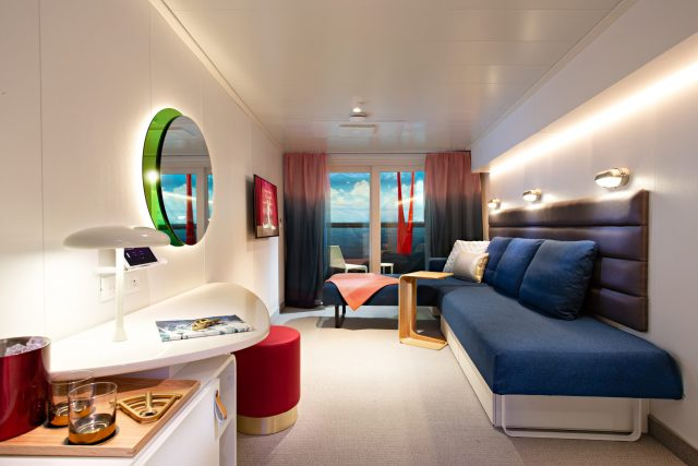 Virgin Voyages Cabin Day