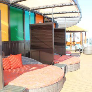 Carnival Cruises Panorama cruise ship Havana cabins pool and loungers