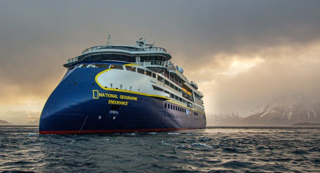 Lindblad Expeditions National Geographic Endurance cruise ship bow