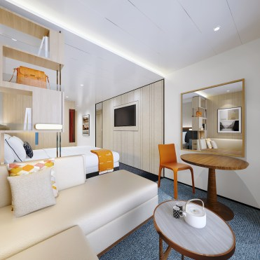 Viking Cruises Expeditions nordic balcony sofa
