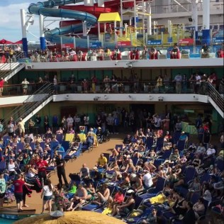 Carnival Cruises Panorama cruise ship main pool games