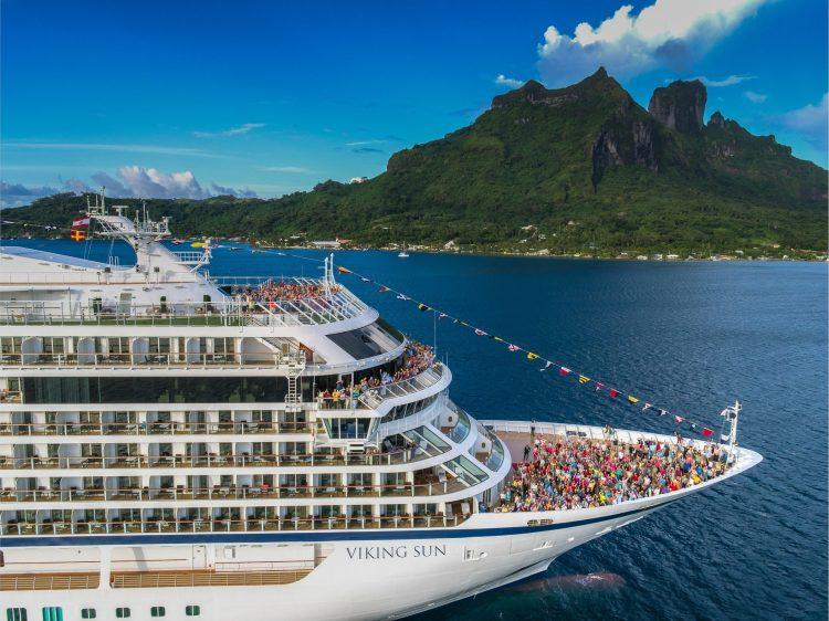Viking Sun cruise ship in Bora Bora world cruise coronavirus