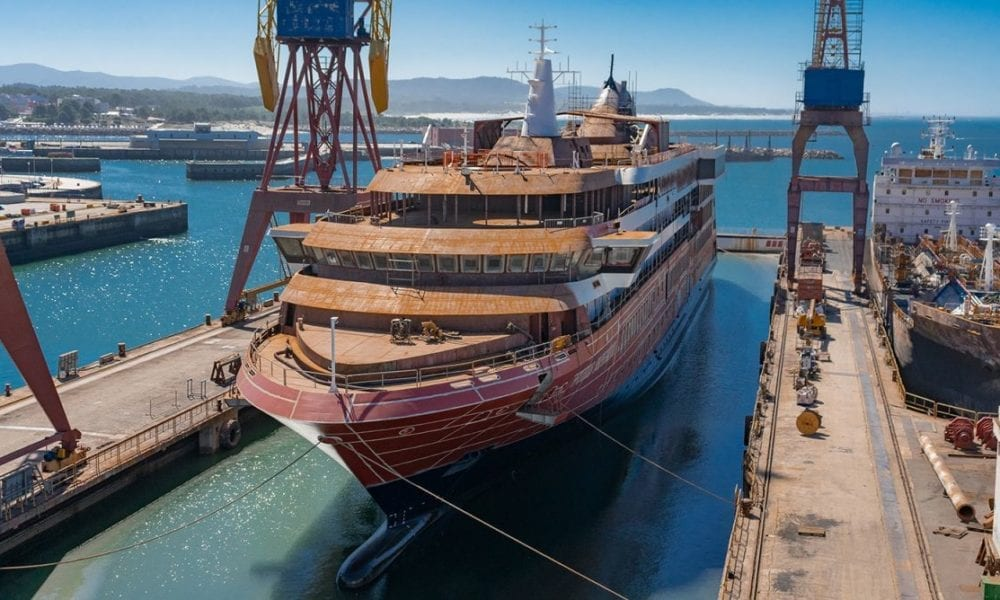 World Navigator, Atlas Ocean Voyages' first expedition ship, floats out