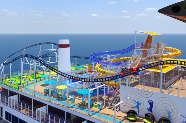 Carnival cruises bolt roller coaster celebration cruise ship