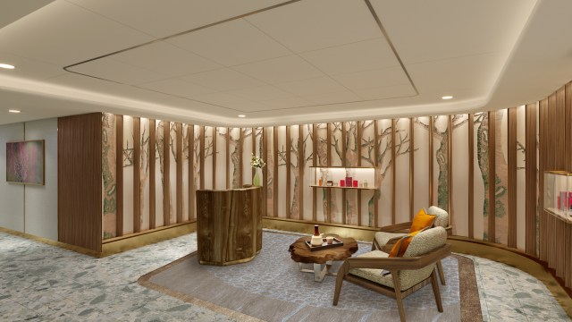 Seabourn expedition ships Spa Reception rendering