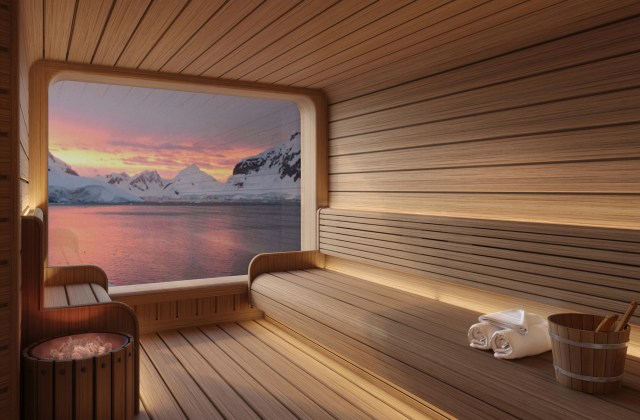 Seabourn expedition ships Spa Sauna Rendering
