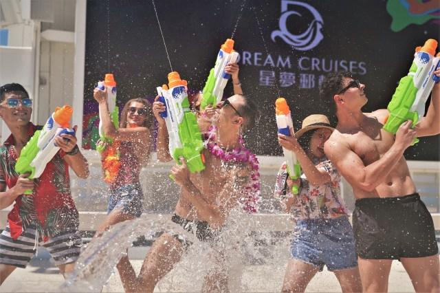 Water Gun Games on World Dream cruise ship