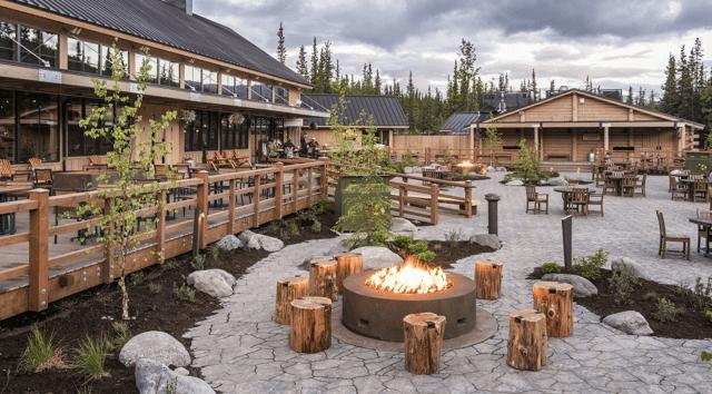 Westmark Denali hotel outdoor firepits