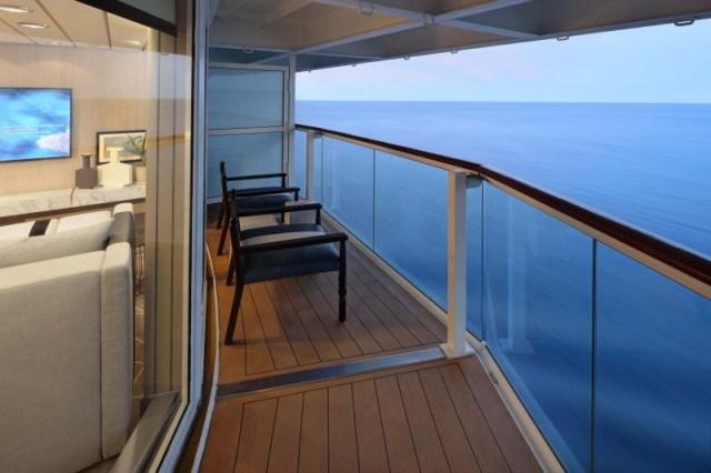 Celebrity Cruises Millennium cabin balcony
