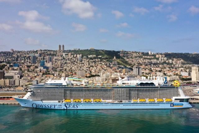 royal caribbean odyssey of the seas in haifa israel
