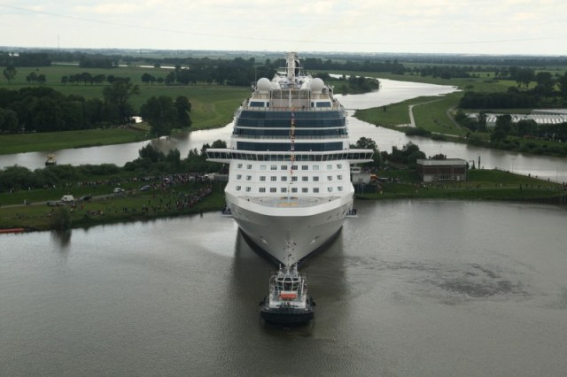 Celebrity Cruises Silhouette cruise ship conveyance tug boat