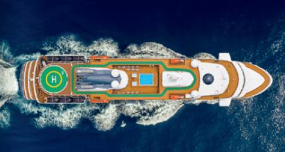 Atlas Ocean Voyages World Navigator aerial view