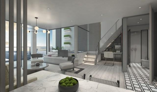Celebrity Cruises Beyond cruise ship edge villas livingroom
