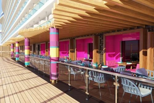 norwegian cruise line prima norwegianprima los lobos outside dining rendering