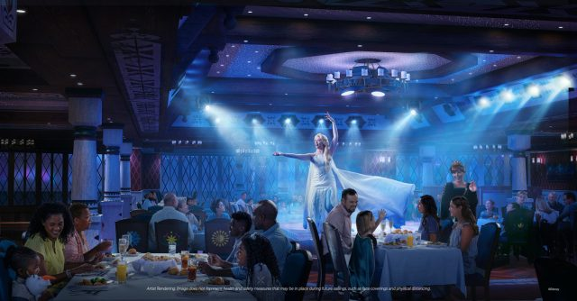 Disney Cruise Line Wish cruise ship dining Arendelle A Frozen dining experience