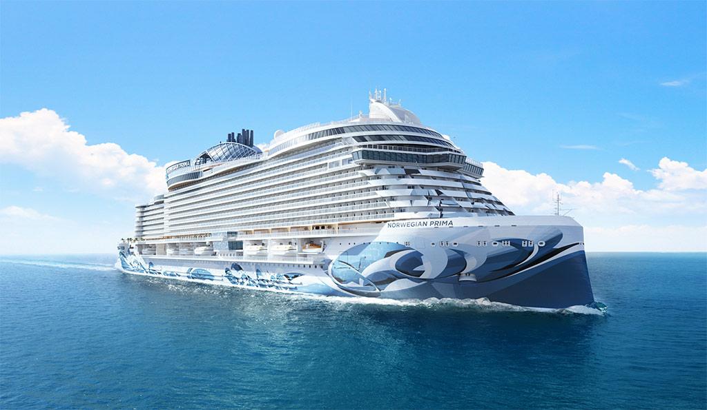 Norwegian Cruise Line's new Prima cruise ship sails in summer 2022