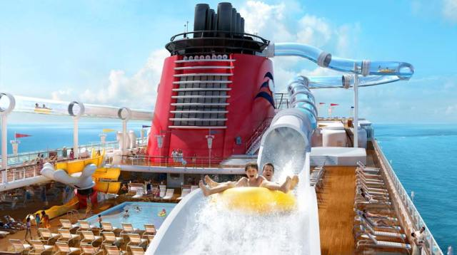 Disney Cruise Line duck slide