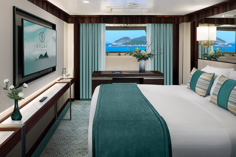 Atlas Ocean Voyages offers Solo Suites without supplement fee
