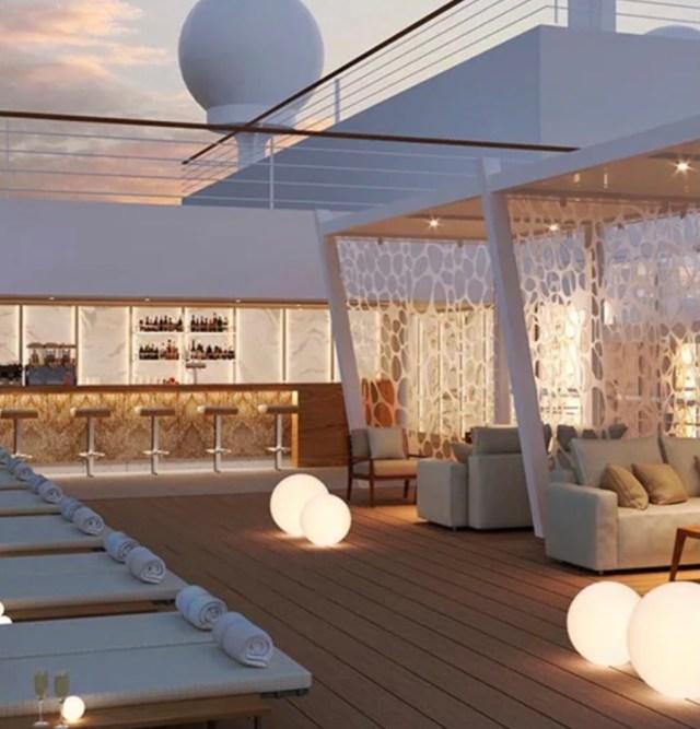 MSC Cruises seashore loungers