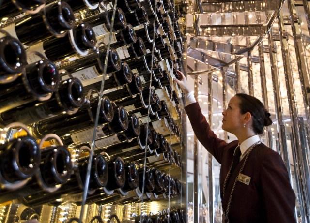 Celebrity Cruises wine tower Spectator awards