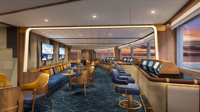 Seabourn expedition ships - Bow Lounge