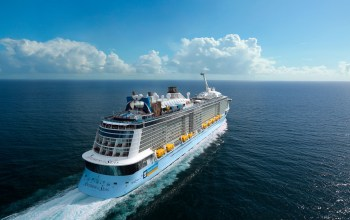 Royal Caribbean Anthem of the Seas aerial view