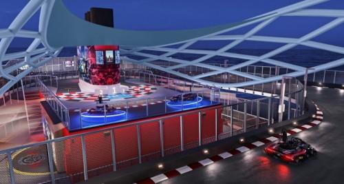 Norwegian Cruise Line Prima top deck podium