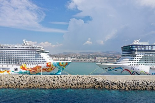 Norwegian Epic and Norwegian Getaway cruise in the Mediterranean