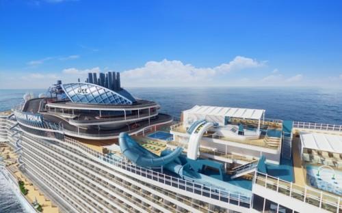 Norwegian Cruise Line Prima top deck