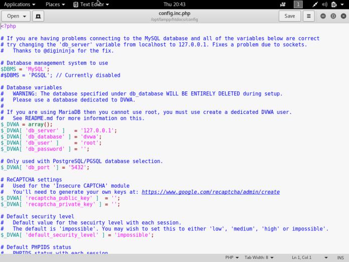 setup own pentesting environment7 - Setup own PenTesting Environment (DVWA) on your Kali Linux
