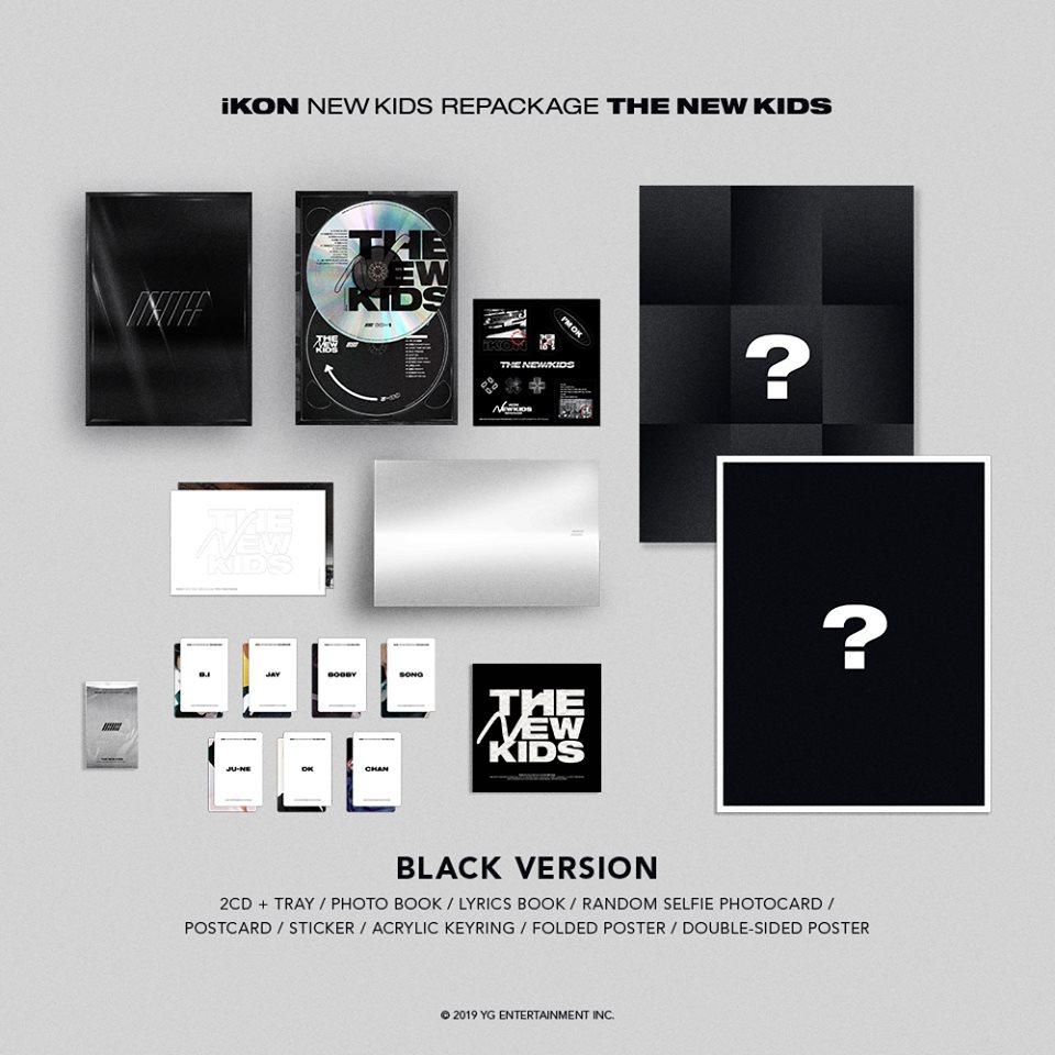 iKON releases 'NEW KIDS REPACKAGE' album packaging details