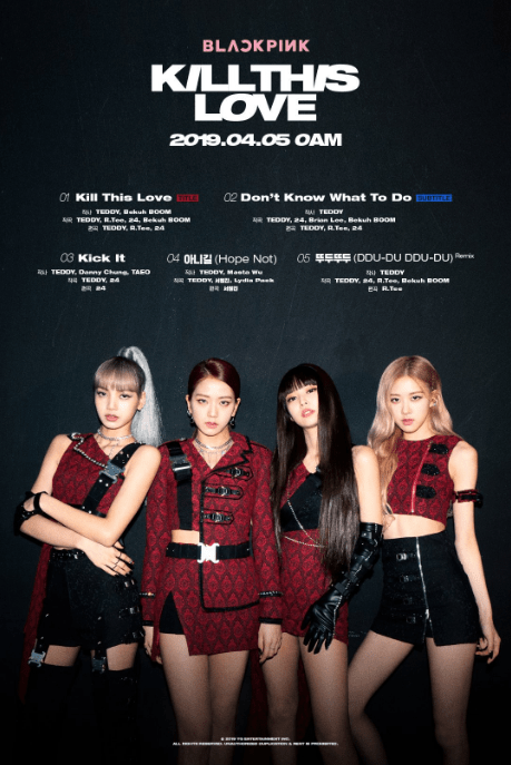 BLACKPINK reveal track list for 'Kill This Love'! | The latest kpop