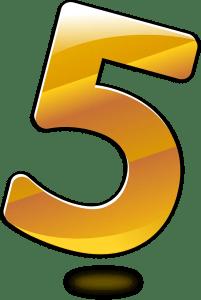 A golden 5