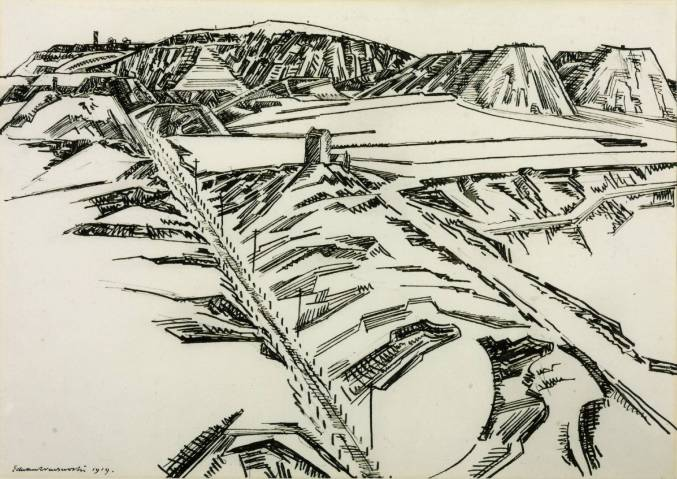 Granite Quarries, Darby Hill, Oldbury 1919 by Edward Wadsworth 1889-1949