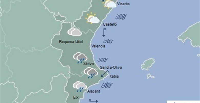 Las lluvias regresan este lunes a la Comunitat Valenciana acompañadas de un descenso de temperaturas