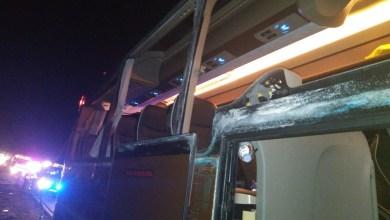 Varios heridos en un accidente entre un autobús y un camión en la A3 en Villagordo