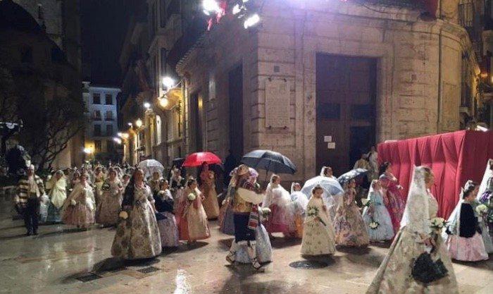 #Fallas18| ¿Lloverá durante el primer día de Ofrenda?