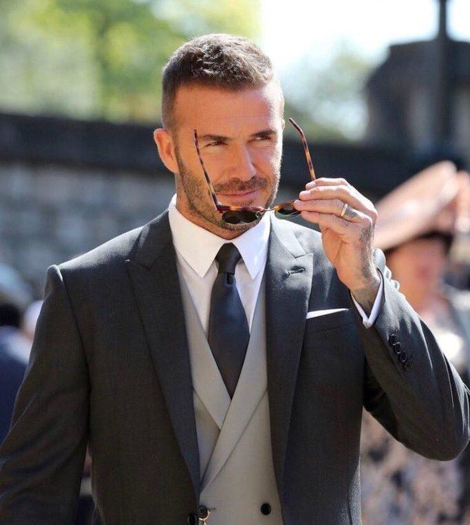 David Beckham revoluciona las redes sociales en la #BodaHarryYMeghan #RoyalWedding