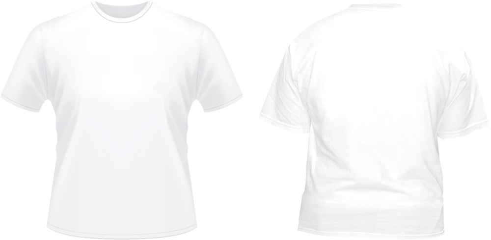 Download Front Back White Tshirt Template (PSD)   Official PSDs