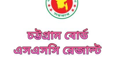 SSC Result 2020 Chittagong Board Marksheet & Number
