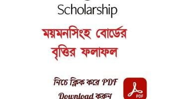 HSC Scholarship Result 2021 Mymensingh Board PDF Download
