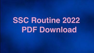 SSC Routine 2022 PDF Download Bangladesh