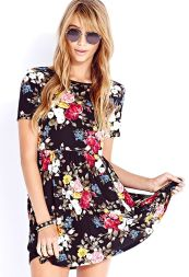 Forever 21. Darling Rose Babydoll Dress.