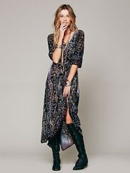 Free People. Lindsey Thornburg Country Fair Velvet Dress.