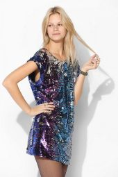 Urban Outfitters. Staring At Star Multi-sequin Tee Dress.