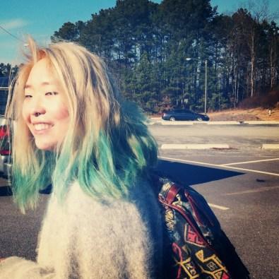 Blue/ Green Pastel Hair