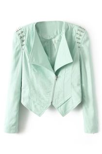 ROMWE. http://www.romwe.com/romwe-lapel-asymmetric-riveted-zippered-green-coat-p-82023.html