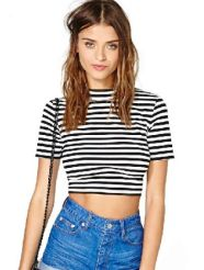 Sheinside. http://www.sheinside.com/Black-White-Striped-Short-Sleeve-Crop-T-Shirt-p-162831-cat-1738.html